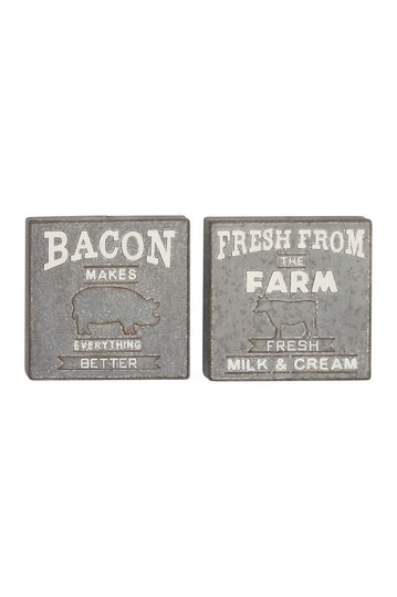 Metal Wall Signs - Set of 2 Willow Row