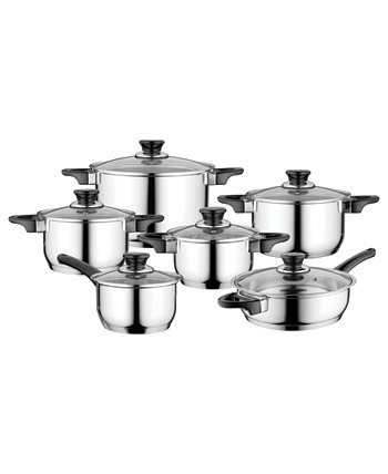Essentials Gourmet Cookware Set with Handles, 12 Pieces BergHOFF