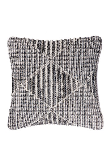Castor Textured Geometric Throw Pillow Cover NuLOOM