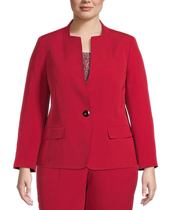Plus Size Single-Button Blazer Kasper