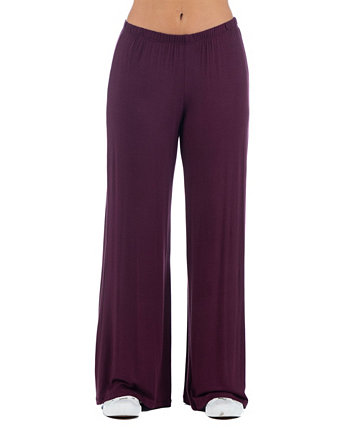 Women's Plus Size Palazzo Lounge Pants 24seven Comfort Apparel