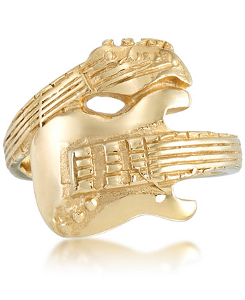 Men's Guitar Ring in Yellow Ion-Plated Stainless Steel Andrew Charles by Andy Hilfiger