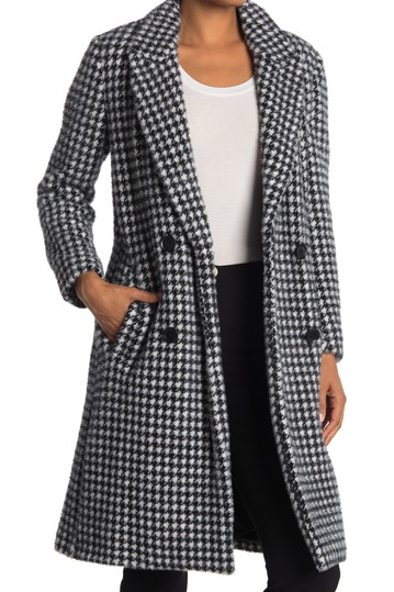 Houndstooth Double Breasted Coat BCBGMAXAZRIA