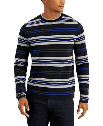 Men's Striped Crewneck Sweater, Created for Macy's DKNY