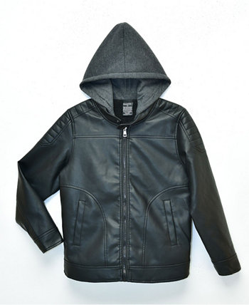Big Boys Quinn Sherpa Lined Moto Jacket with Fleece Hood, Made For Macy's Ring of Fire