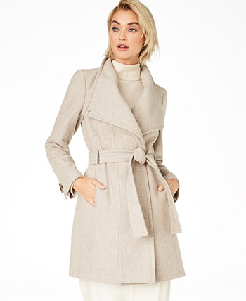 Petite Belted Toggle Wrap Coat Calvin Klein