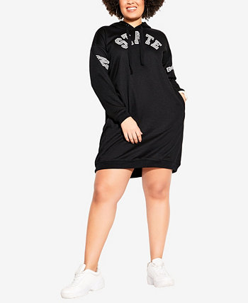 Plus Size Ny State Hoodie City Chic