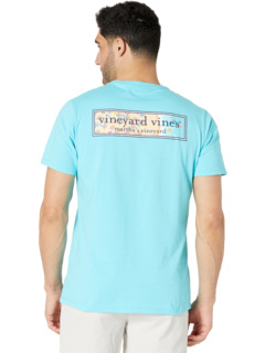 Short Sleeve Beach Logo Box Pocket T-Shirt Vineyard Vines
