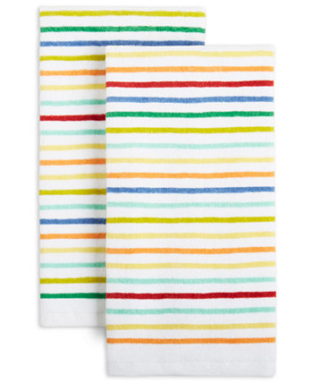 Tropical Stripe Kitchen Towels, Set of 2 FIESTA