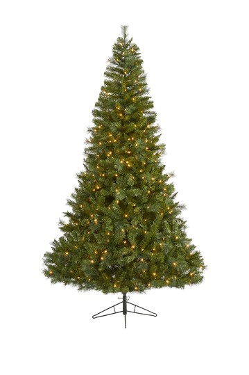 7.5ft. Mount Hood Spruce Artificial Christmas Tree with 450 Warm White Lights NEARLY NATURAL