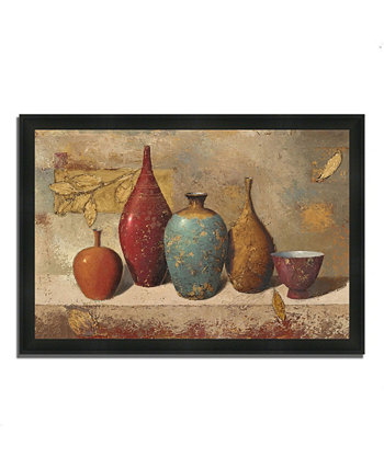 "Leaves and Vessels by James Wiens Framed Painting Print, 33"" x 23"" Tangletown Fine Art"