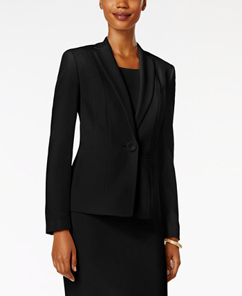 Crepe One-Button Blazer Kasper