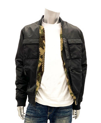 Men's Big & Tall Sherpa Lined Reversible Bomber Sean John