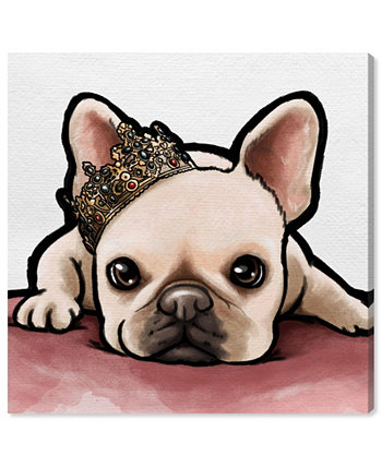 """Royal Frenchie Canvas Art, 16"""" x 16"""" Oliver Gal"""