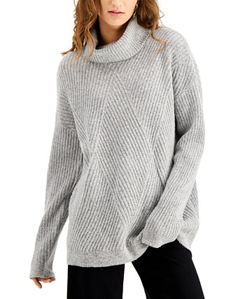 Juniors' Cozy-Knit Turtleneck Tunic Sweater Hooked Up by IOT