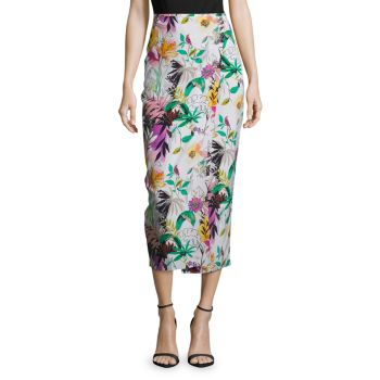 Addison Floral-Print Skirt Robert Graham