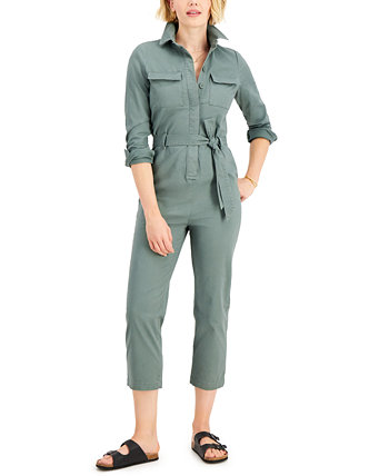 Tie-Waist Jumpsuit, Created for Macy's Style & Co