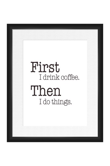 First Coffee Framed Art PTM Images