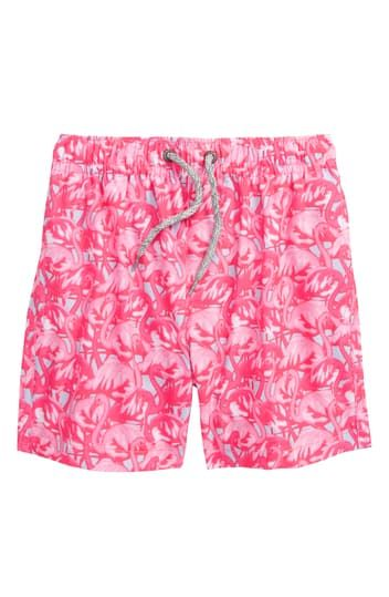 BOYS SWIM SHORTS W/ALL OVER FL Vintage Summer