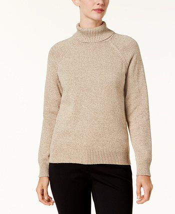 Petite Cotton Marled Turtleneck Sweater, Created for Macy's Karen Scott