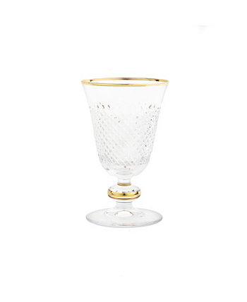 Short Stem Glasses with Cut Crystal Detail, Set of 6 Classic Touch