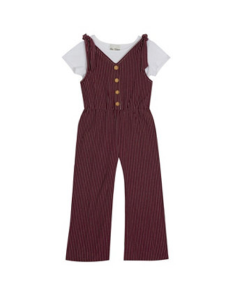 Big Girls Knit Jumpsuit with T-shirt Rare Editions