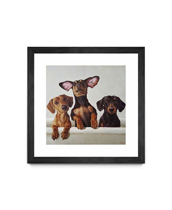 "3 Amigos Matted and Framed Art Print, 30"" x 30"" Giant Art"