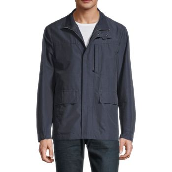 Stand-Collar Long-Sleeve Jacket Canali