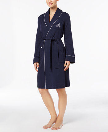 Quilted Shawl Collar Short Robe Ralph Lauren