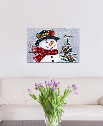 """Snowman"" by William Vanderdasson Gallery-Wrapped Canvas Print (26 x 40 x 0.75) ICanvas"