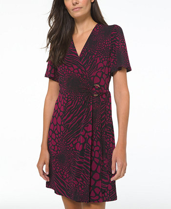 Plus Size Printed Ring Wrap Dress Michael Kors