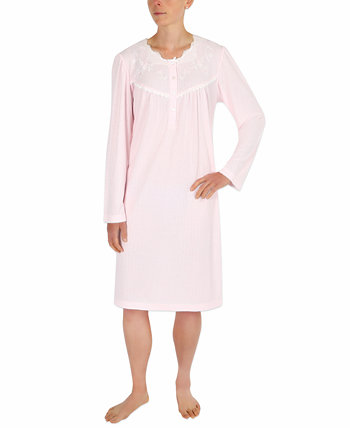 Embroidered Lace-Trim Nightgown Miss Elaine