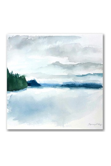 Shades of Blue Gallery Wrapped Canvas Wall Art Courtside Market