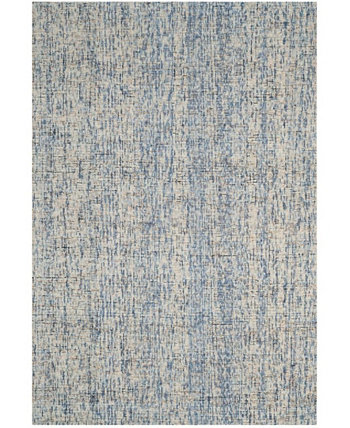 Abstract 468 Navy and Rust 6' x 9' Area Rug Safavieh
