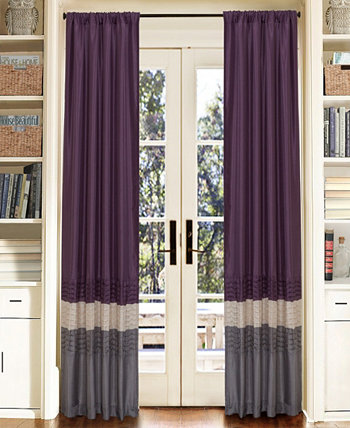 "Mia Color Block 54"" x 84"" Window Curtain Set Lush Décor"