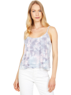 Slub Jersey Cropped Flouncy Double Scoop Cami Chaser