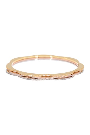 cz pave scalloped bangle bracelet set Kate Spade New York