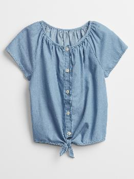 Kids Chambray Top Gap Factory