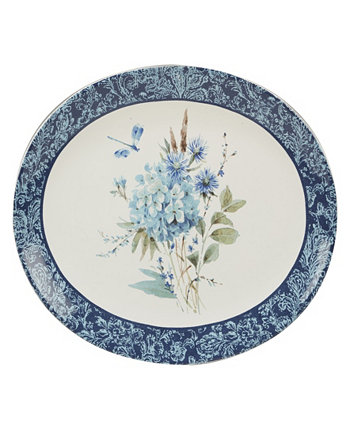 Bohemian Blue Oval Platter Certified International