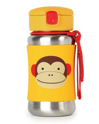 Skip Hop Zoo Stainless Steel Little Kid Straw Bottle Skip Hop