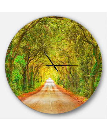 Designart Oversized Traditional Round Metal Wall Clock Design Art