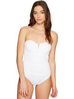 Pearl V-Front Bandeau One-Piece Swimsuit Tommy Bahama