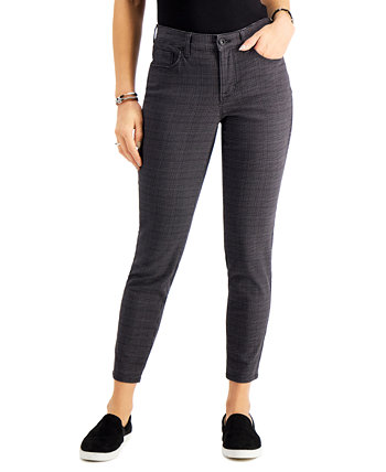 Plaid Curvy Skinny Jeans, Created for Macy's Style & Co
