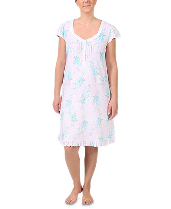 Plus Size Floral-Print Nightgown Miss Elaine