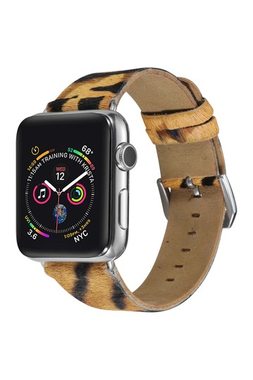 Tiger Posh Tech Теленок Волосы 42мм Apple Watch 1/2/3/4 Band POSH TECH