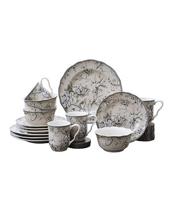 Adelaide Antique White 16 Piece Dinnerware Set, Service for 4 222 Fifth