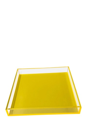 Neon Yellow Square Tray R16 HOME