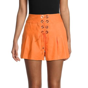 Delanie Grommet-Laced Shorts Ramy Brook