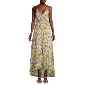 Amy Floral High-Low Maxi Dress ASTR the Label