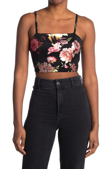 Shine Floral Crop Top MATERIAL GIRL